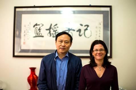 shani orgad副教授与张玥焯,孙景涛,李雪等同学参观学院